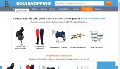 Site internet de Equishopping - Equiponi