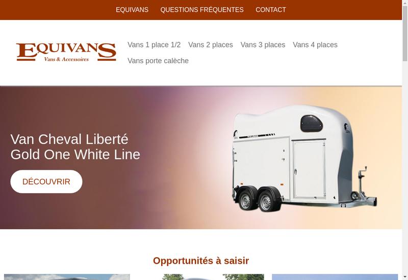 Capture d'écran du site de Equivans