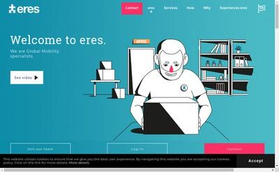 Site internet de Eres Relocation France