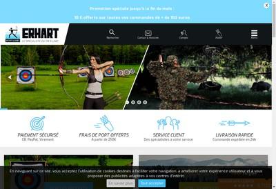 Site internet de Erhart Sports et Loisirs
