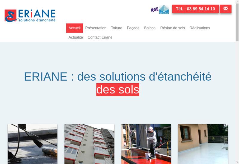 Capture d'écran du site de Eriane