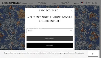 Site internet de Eric Bompard SA