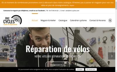 Site internet de Eric Cycles