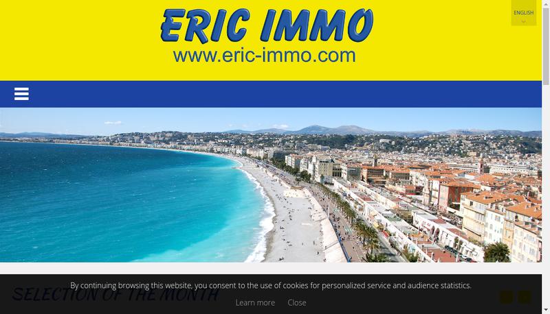 Capture d'écran du site de Eric Immo