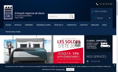 Site internet de Entrepot Regional de Literie