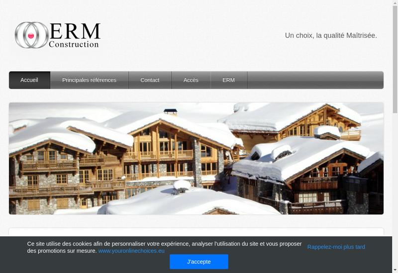 Capture d'écran du site de Erm Construction