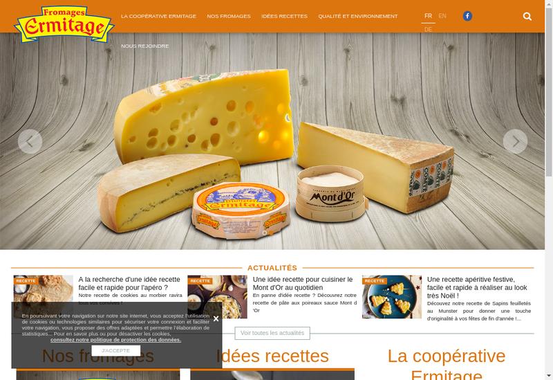 Capture d'écran du site de Ftrecal
