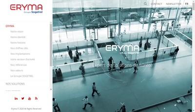 Site internet de Eryma SAS
