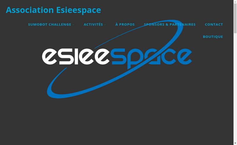Capture d'écran du site de Esieespace