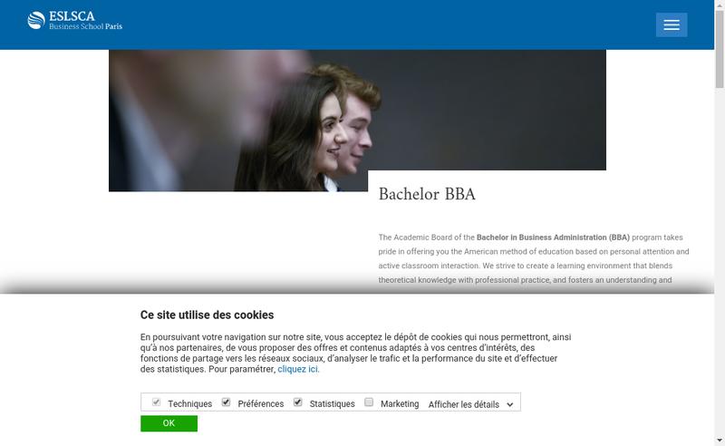 Site internet de Preparation Commerciale Superieure