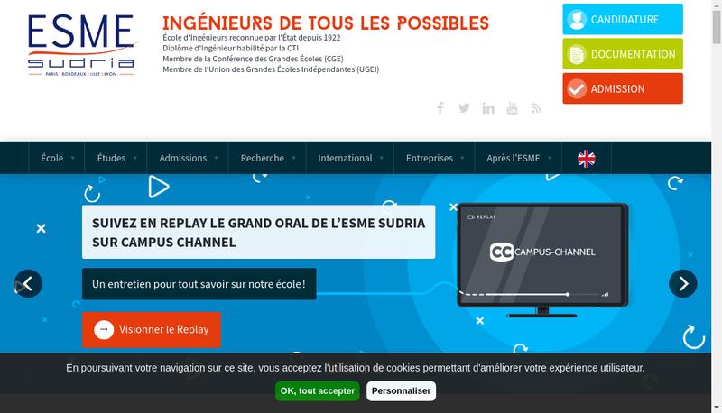 Capture d'écran du site de Ionis Immobiliere Ivry