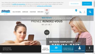 Capture d'écran du site de Comptoir des Materiaux Reunis