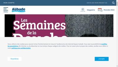 Site internet de Mestre et Espace Aubade