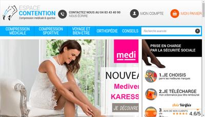 Capture d'écran du site de Pharma Shopi