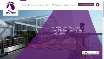 Site internet de Espace Couvert