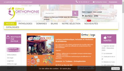 Site internet de Espace Orthophonie