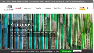 Site internet de Espace Burotic