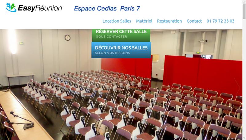 Capture d'écran du site de Cedias