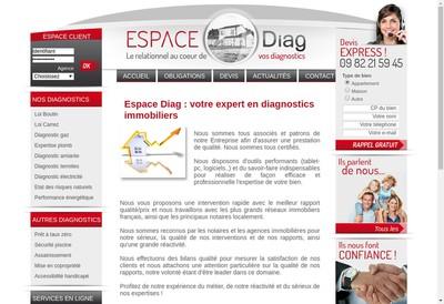 Site internet de Espace Diag'