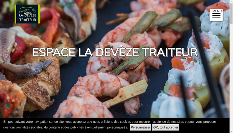 Capture d'écran du site de Espace la Deveze
