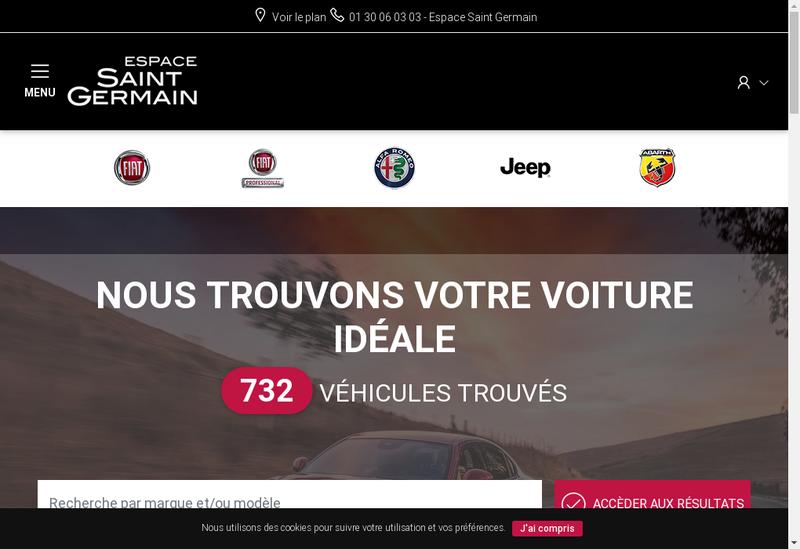 Capture d'écran du site de Espace St Germain