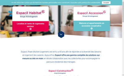 Site internet de Sas Espacil Construction