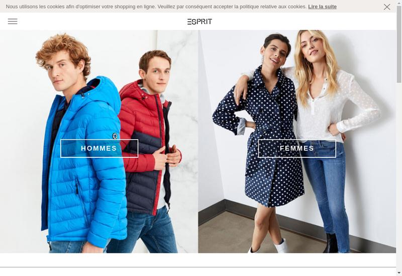 Capture d'écran du site de Esprit de Corp France