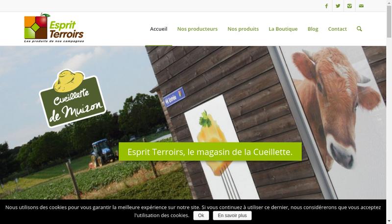 Capture d'écran du site de SNC Cueillette de Muizon