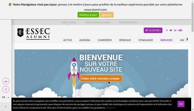 Site internet de Association des Diplomes du Groupe Essec