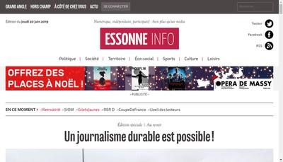 Site internet de Association pour une Cooperative de l'Information en Essonne
