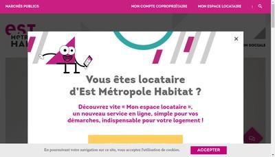 Site internet de Est Metropole Habitat