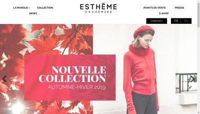 Site internet de Estheme Fashion