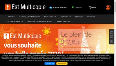 Site internet de Est Multicopie