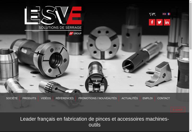 Capture d'écran du site de ESVE