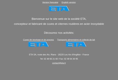 Site internet de Societe ETA SA