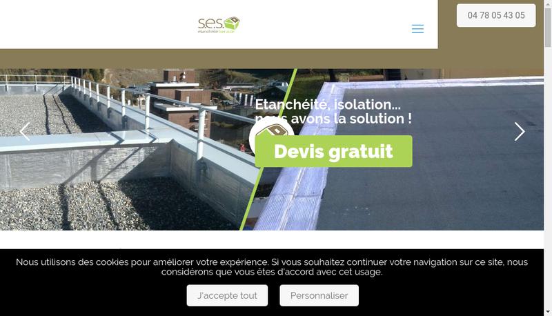 Capture d'écran du site de Societe Etancheite Service Ses