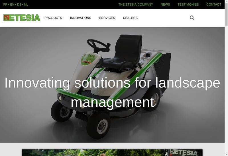 Capture d'écran du site de Etesia