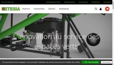 Site internet de Etesia