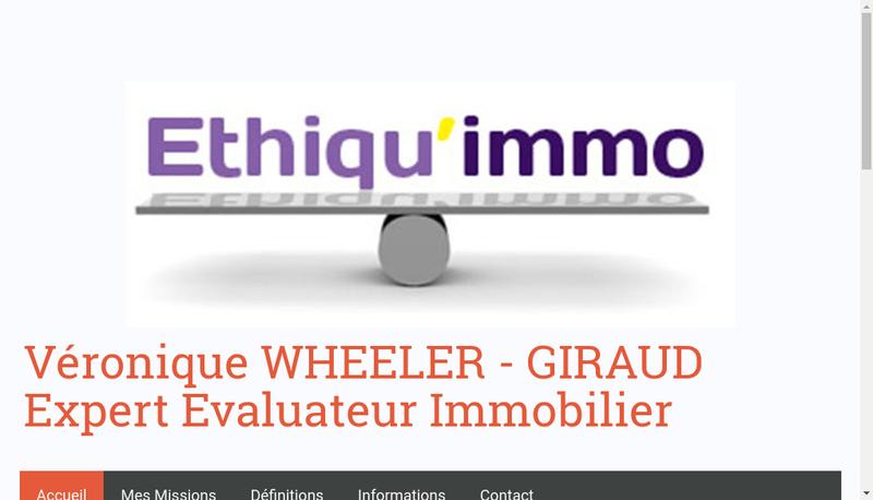 Site internet de Ethiqu'Immo