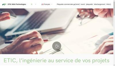 Site internet de ETIC INSA Technologies