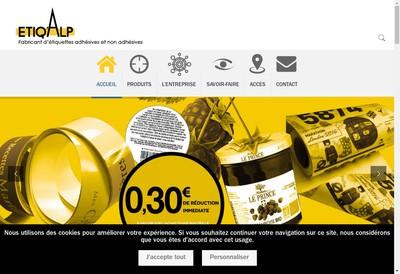 Site internet de Etiq'Alp