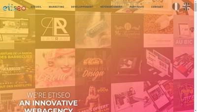 Site internet de Etiseo