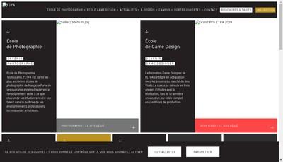 Site internet de ETPA
