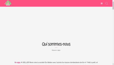 Capture d'écran du site de SARL Jm Bellier