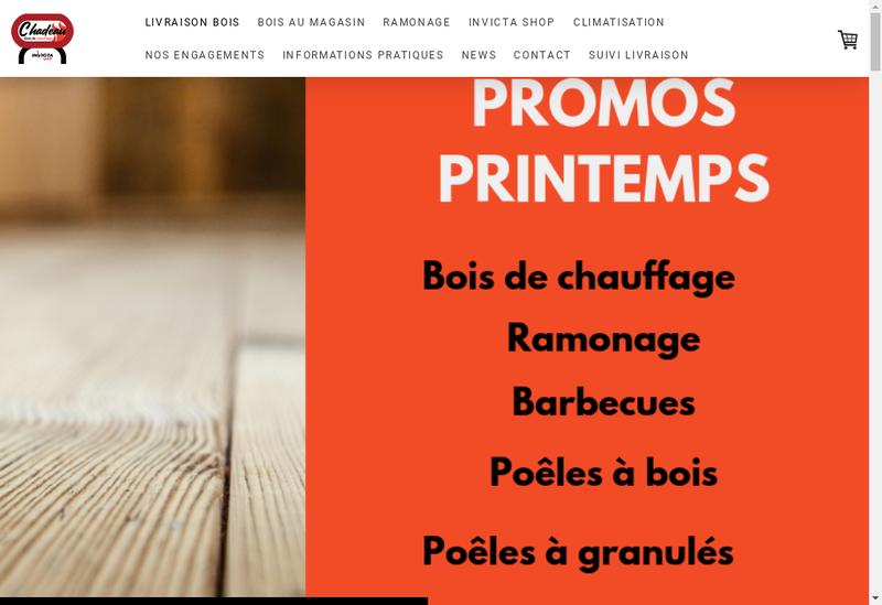 Capture d'écran du site de Etablissements Chadeau