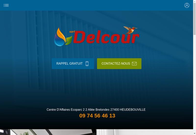Capture d'écran du site de Ets Delcour SARL