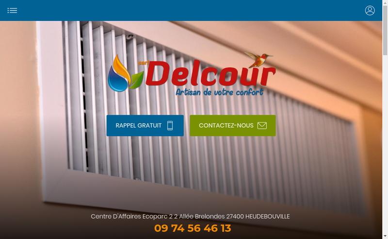 Capture d'écran du site de Etablissements Delcour SARL