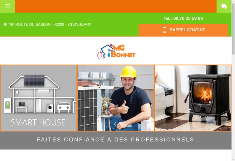 Capture d'écran du site de M-G Bonnet