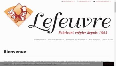 Site internet de Lefeuvre