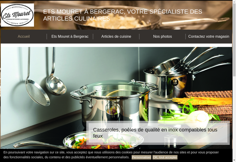Capture d'écran du site de Mouret